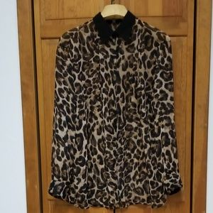 Alice & You Sheer Animal Print Cover Up